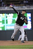 MINNEAPOLIS - MAY 11:  Freddy Garcia #43 of the Chicago White Sox pitches against the Minnesota Twins on May 11, 2010 at Target Field in Minneapolis, Minnesota.  The White Sox defeated the Twins 5-2.  (Photo by Ron Vesely)