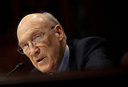 Former Senator ALAN SIMPSON (R-WY), co-chairmen of the National Commission on Fiscal Responsibility and Reform, testifies before a Senate Budget Committee hearing on the report of the National Commission on Fiscal Responsibility and Reform.