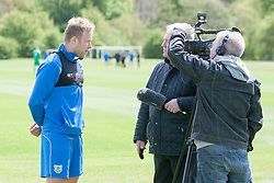 Ex-Falkirk player Scott Arfield. Falkirk FC training for the Cup Final at Burnley's training ground.