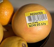 Grapefruit with reduce price label