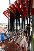 Chungju, South Korea. 2013 FISA World Rowing Championships, General Views of the  Tangeum Lake International Regatta Course. 08:52:46  Saturday  24/08/2013 [Mandatory Credit. Peter Spurrier/Intersport Images]