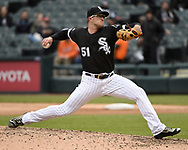 CHICAGO - MAY 01:  Carson Fulmer #51 of the Chicago White Sox pitches against the Baltimore Orioles on May 1, 2019 at Guaranteed Rate Field in Chicago, Illinois.  (Photo by Ron Vesely)  Subject:   Carson Fulmer