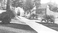 1925 Front gates at 1847 Camino Palmero