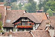 Switzerland, Berne Houses in a quiet neighbourhood