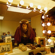 The Beast before the mirror in his dressing room.