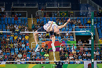 20160912 Copyright onEdition 2016©<br /> Free for editorial use image, please credit: onEdition<br /> <br /> Field athlete BROOM-EDWARDS Jonathan, High Jump - Men, from Reading, wins a silver medal competing for ParalympicsGB at the Rio Paralympic Games 2016.<br />  <br /> ParalympicsGB is the name for the Great Britain and Northern Ireland Paralympic Team that competes at the summer and winter Paralympic Games. The Team is selected and managed by the British Paralympic Association, in conjunction with the national governing bodies, and is made up of the best sportsmen and women who compete in the 22 summer and 4 winter sports on the Paralympic Programme.<br /> <br /> For additional Images please visit: http://www.w-w-i.com/paralympicsgb_2016/<br /> <br /> For more information please contact the press office via press@paralympics.org.uk or on +44 (0) 7717 587 055<br /> <br /> If you require a higher resolution image or you have any other onEdition photographic enquiries, please contact onEdition on 0845 900 2 900 or email info@onEdition.com<br /> This image is copyright onEdition 2016©.<br /> <br /> This image has been supplied by onEdition and must be credited onEdition. The author is asserting his full Moral rights in relation to the publication of this image. Rights for onward transmission of any image or file is not granted or implied. Changing or deleting Copyright information is illegal as specified in the Copyright, Design and Patents Act 1988. If you are in any way unsure of your right to publish this image please contact onEdition on 0845 900 2 900 or email info@onEdition.com