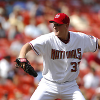 21 July 2007:  Washington Nationals pitcher Mike Bacsik (37) pitches in the second inning against the Colorado Rockies.  Bacsik pitched 6 2/3 innings without giving up a run as the Nationals defeated the Rockies 3-0 at RFK Stadium in Washington, D.C.  ****For Editorial Use Only****