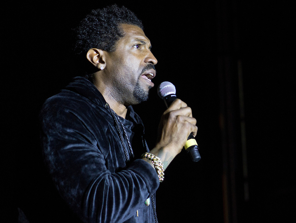 Deon Cole performing at AAHH! Fest in Chicago, IL on September 25, 2016.