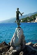 Statue of Lady with Seagull. Opatija, Croatia