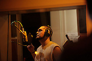 EbGb records in the studio at Orange Glow Music, Inc. in Bonita Springs, Fla. EbGb has very firm ideas about his music and the direction he wants it to go. It has taken time for him to release some of the control during the creative process. To this date, Orange Glow has invested more than $400,000 in recording costs on EbGb. The producers plan to make a trip to New York with the best songs to pitch Eb to major record labels.