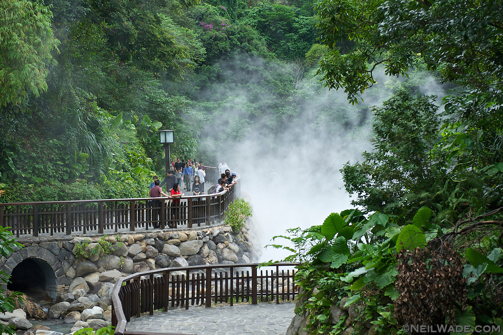Beitou's Geothermal Valley, in Taipei.