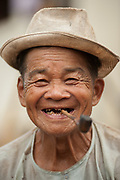 Thai man by the Thailand and Laos boarder
