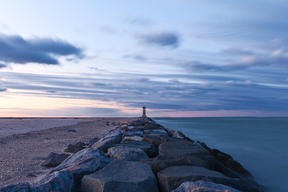 """Land & Sea""<br /> Mattituck Inlet Jetty<br /> Mattituck, Long Island"