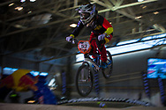 #53 (PRIES Nadja) GER at the 2014 UCI BMX Supercross World Cup in Manchester.