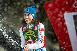 Petra Vlhova (SVK), celebrating after the Ladies' Slalom at 56th Golden Fox event at Audi FIS Ski World Cup 2019/20, on February 16, 2020 in Podkoren, Kranjska Gora, Slovenia. Photo by Matic Ritonja / Sportida
