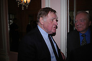 Sir Bernard Ingham. The Oldie Of The Year Awards,  Simpsons in the Strand, London. 22 March 2005. ONE TIME USE ONLY - DO NOT ARCHIVE  © Copyright Photograph by Dafydd Jones 66 Stockwell Park Rd. London SW9 0DA Tel 020 7733 0108 www.dafjones.com