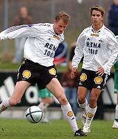 Fotball 2. div. 02.05.05, RBK 2 - Innstranden,<br /> Harald Martin Brattbakk og Michael Jamtfall<br /> Foto: Carl-Erik Eriksson, Digitalsport