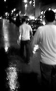 12/16/06 Chicago, IL Downtown Chicago rainy night...(Chris Machian/ Prairie Pixel Group)..