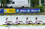 Seville, Andalusia, SPAIN<br /> <br /> 2002 World Rowing Championships - Seville <br /> - Spain <br /> <br /> Sunday  22/09/2002.<br /> <br /> GER M4X. Gold Medalist. Bow.  Rene BERTRAM,  Stephan VOLKERT,  Marco<br /> GEISLER and Robert SENS. <br /> <br /> Rio Guadalquiver Rowing course<br /> <br /> <br /> [Mandatory Credit:Peter SPURRIER/Intersport Images]