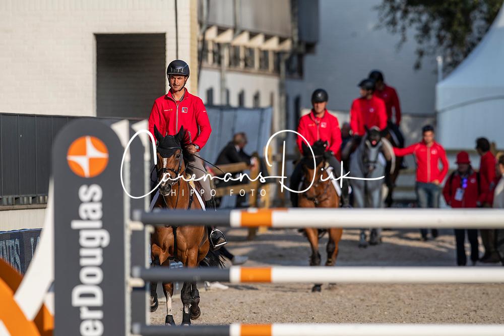 Team Switzerland, Guerdat Steve, Estermann Paul, Fuchs Martin<br /> European Championship Jumping<br /> Rotterdam 2019<br /> © Hippo Foto - Dirk Caremans