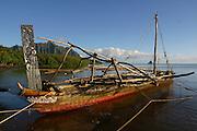Outrigger Sailing Canoe, Kaneohe Bay, Oahu, Hawaii, USA<br />