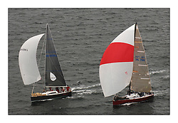 Day 2 of the Bell Lawrie Scottish Series with wild conditions on Loch Fyne for all fleets. Exhilarating and testing racing for Boats and crew...Class 2 IRL789 Rosie  & GBR4334L Absolutely 2.