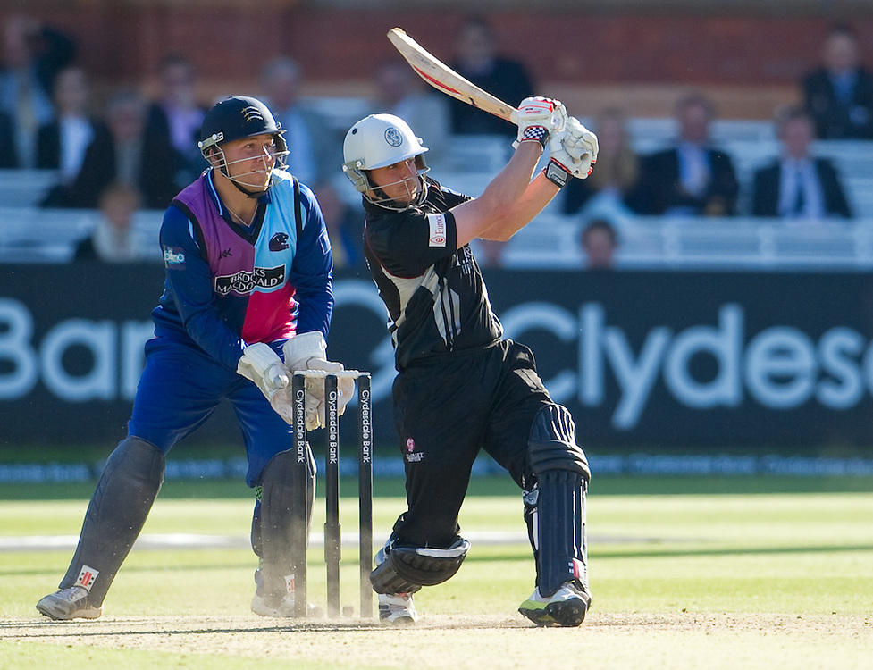 Somerset's James Hildreth in action against Middlesex Panthers<br /> <br />  (Photo by Ashley Western/CameraSport) <br /> <br /> County Cricket - Yorkshire Bank 40 - Group C - Middlesex Panthers v Somerset - Tuesday 4th June 2013 - Lords - London<br /> <br /> © CameraSport - 43 Linden Ave. Countesthorpe. Leicester. England. LE8 5PG - Tel: +44 (0) 116 277 4147 - admin@camerasport.com - www.camerasport.com