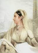 Machine colourised (AI) The Rajpootni [Prince'] s Bride From the book ' The Oriental annual, or, Scenes in India ' by the Rev. Hobart Caunter Published by Edward Bull, London 1835 engravings from drawings by William Daniell