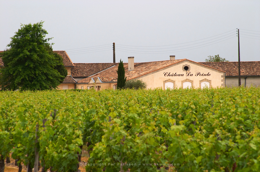 Chateau la Pointe and vineyard Pomerol Bordeaux Gironde Aquitaine France