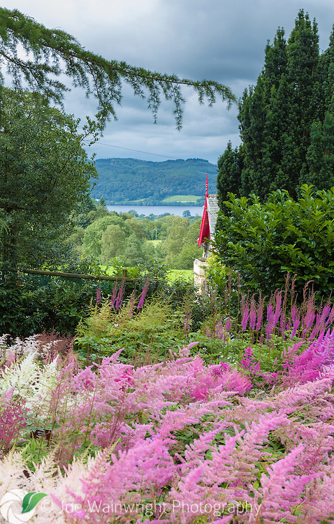 Holehird Gardens, Windermere, Cumbria, holds a collection of 200 astilbe cultivars and common species mainly from European countries.