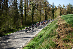 Lisa Klein (GER) leads the bunch at La Flèche Wallonne Femmes 2018, a 118.5 km road race starting and finishing in Huy on April 18, 2018. Photo by Sean Robinson/Velofocus.com