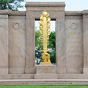 The Second Division Memorial in the President's Park next to the Ellipse and not far from the White House. It commemorates those who died while serving in the 2nd Infantry Division of the United States Army.
