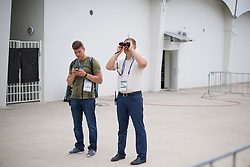 June 16, 2018 - Gelendzhik, RUSSIA - 180616 Security agents look for unauthorised spectators when the Swedish national football team has a closed practice session during the FIFA World Cup on June 16, 2018 in Gelendzhik..Photo: Joel Marklund / BILDBYRN / kod JM / 87709 (Credit Image: © Joel Marklund/Bildbyran via ZUMA Press)