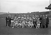 05/04/1964<br /> 04/05/1964<br /> 5 April 1964<br /> National Hurling League Semi-Final: Laoghis v Antrim at Croke Park, Dublin.<br /> The Laoghis team, which defeated Antrim.