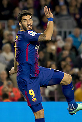 May 9, 2018 - Barcelona, Catalonia, Spain - Luis Suarez during the spanish football league La Liga match between FC Barcelona and Villarreal at the Camp Nou Stadium in Barcelona, Catalonia, Spain on May 9, 2018  (Credit Image: © Miquel Llop/NurPhoto via ZUMA Press)