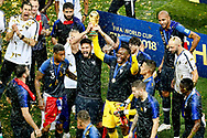 France lifting the World Cup after the 2018 FIFA World Cup Russia, final football match between France and Croatia on July 15, 2018 at Luzhniki Stadium in Moscow, Russia - Photo Stanley Gontha / Proshots / ProSportsImages / DPPI