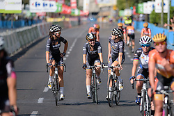 Reflecting poses: Audrey Cordon and Jolien D'hoore at Madrid Challenge by La Vuelta an 87km road race in Madrid, Spain on 11th September 2016.