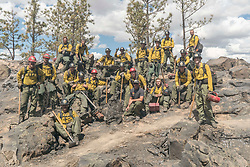 BTS, The Granite Mountain Hotshot team poses together.