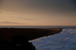 Pacific Ocean and Jetty Off Cape Disappointment State Park, Ilwaco, Washington, US