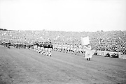 All Ireland Senior Football Championship Final, Dublin v Galway, 22.09.1963, 09.23.1963, 22nd September 1963, Dublin 1-9 Galway 0-10,.The teams marching around Croke Park, .