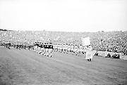All Ireland Senior Football Championship Final, Dublin v Galway, 22.09.1963, 09.23.1963, 22nd September 1963, Dublin 1-9 Galway 0-10,.The teams marching around Croke Park, .