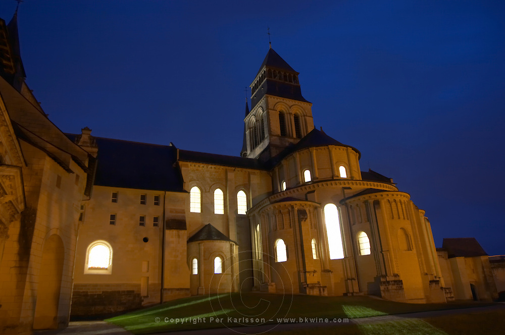 The church. Abbaye Royale de Fontevraud abbey, Loire, France