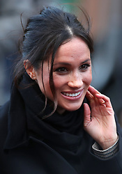 Meghan Markle during a visit to Cardiff Castle in Wales. Thursday January 18 2018.
