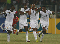 Photo: Steve Bond/Richard Lane Photography.<br />Ghana v Namibia. Africa Cup of Nations. 24/01/2008. Junior Agogo (2nd from R) celebrates