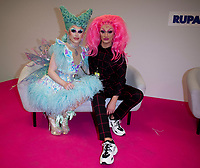 Harry Derbridge having a Drag Queen make over  from Blu Hydrangea at RuPaul's DragCon UK presented by World Of Wonder at Olympia London