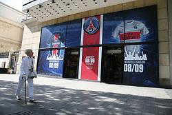 PSG (Paris Saint Germain) store on the Avenue des Champs-Elysees in Paris, France on July 24, 2008. Photo by Denis Guignebourg/ABACAPRESS.COM