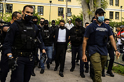Babis Anagnostopoulos, husband of murdered Caroline Crouch, leaves the Investigator's office at Athens court, Greece, 18 June 2021. An arrest warrant for the 33-year-old husband who confessed the murder of his wife was executed by a prosecutor for the execution of judgements in Athens. Pilot Babis Anagnostopoulos, 33, is scheduled to appear before an investigator, where he is expected to request an extension to prepare his defense, before being detained as a flight risk. Earlier Anagnostopoulos was charged with the murder of Caroline Crouch, his 20-year-old wife of British descent and mother of their 11-month infant, after appearing before a public prosecutor in Athens. He will also face a criminal charge of animal abuse for the killing of the family's dog and lesser charges for giving false testimony to the police and casting suspicion on others for his actions.