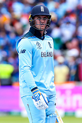 Jason Roy of England cuts a dejected figure - Mandatory by-line: Robbie Stephenson/JMP - 30/06/2019 - CRICKET - Edgbaston - Birmingham, England - England v India - ICC Cricket World Cup 2019 - Group Stage