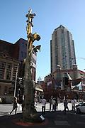Sydney, Australia golden tree sculpture in chinatown
