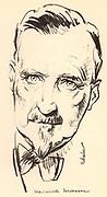 Heinrich Mann (1871-1950) German novelist. Elder brother of the novelist Thomas Mann.  From a sketch dated 1934.